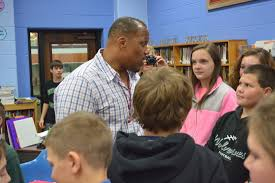 William Henderson visits Caldwell Middle School (Photos)