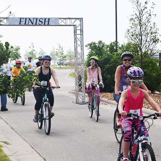 Riders Cross the Finish Line