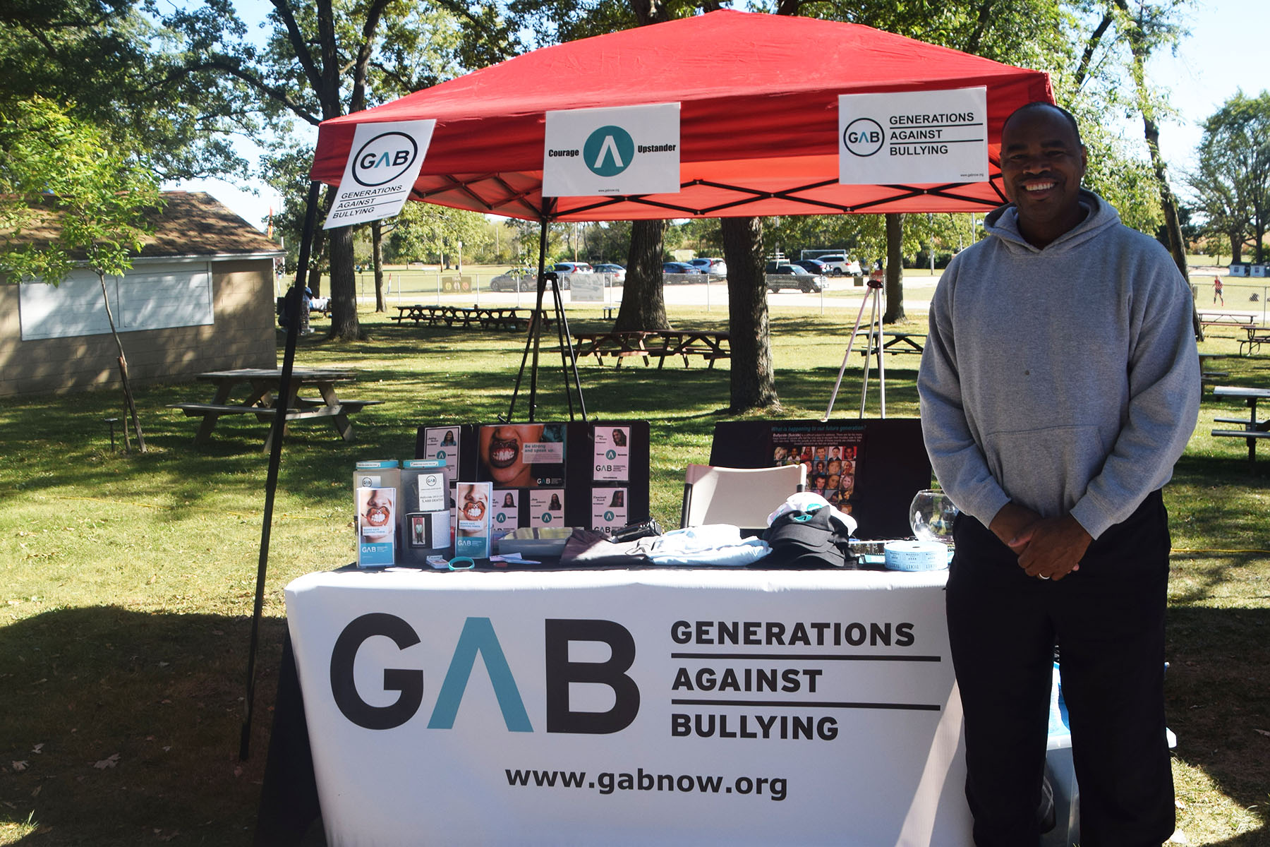 GAB tent table