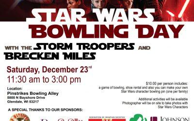 Star Wars Bowling Day December 23rd