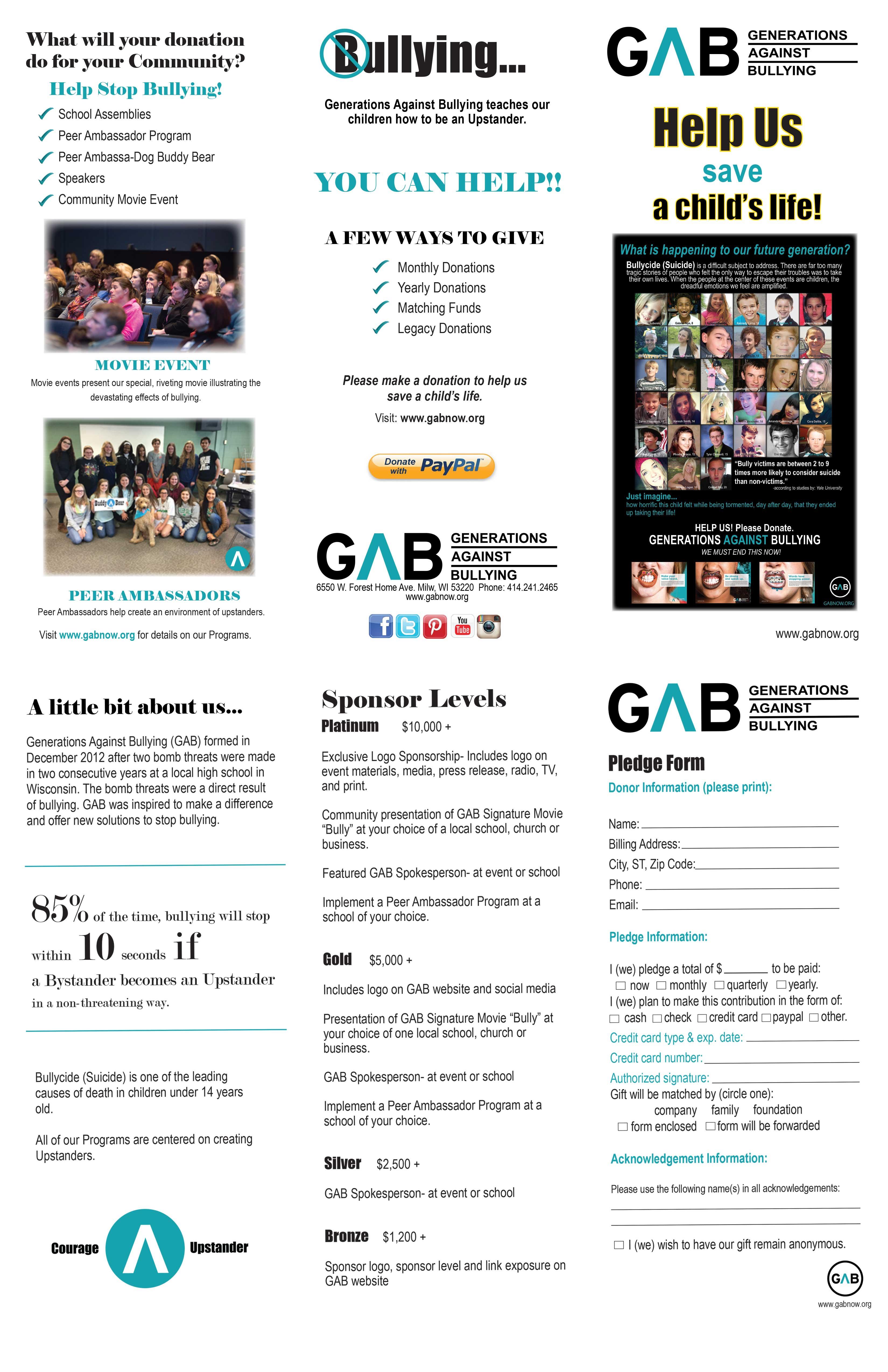 Sponsorship Opportunities Gabnow Org